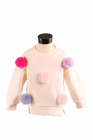 DOE A DEAR- CHELSEA CREAM POM POM SWEATER