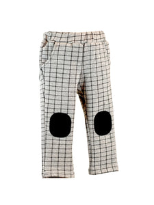 LITTLE WHO- HEATHER GREY CHECKERED PANTS