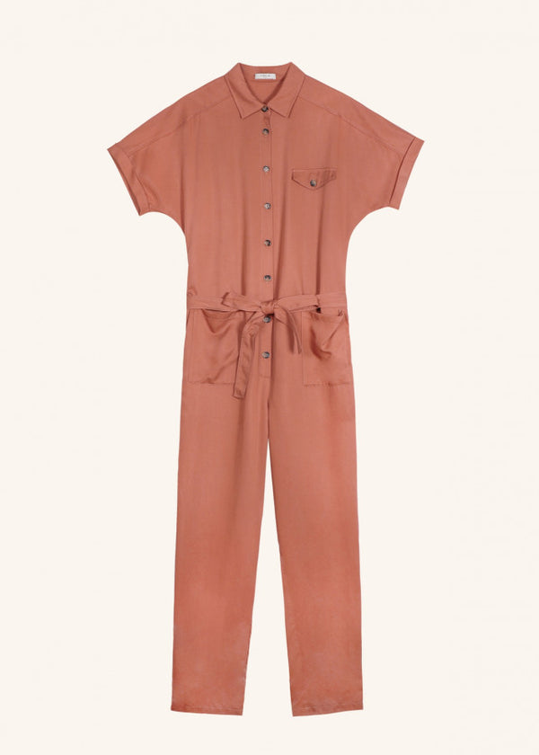 FRNCH PARIS- WOMEN'S BRICK WOVEN JUMPSUIT