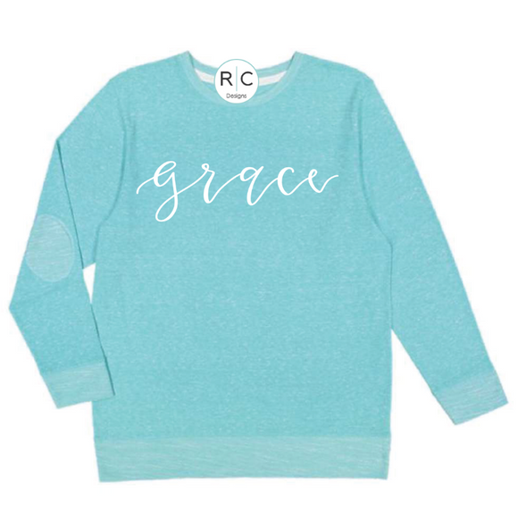 Grace Terry Long Sleeve {Caribbean Blue}