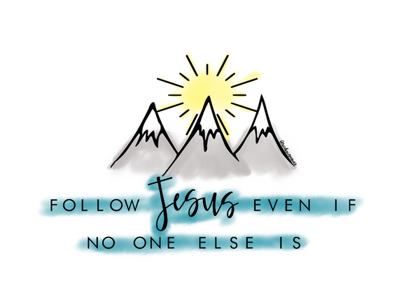Follow Jesus Sticker