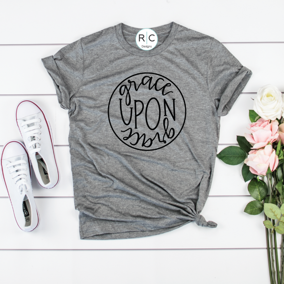 Grace Upon Grace {Grey Triblend}