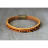 Jeremiah 29:11 Leather Bracelet