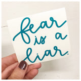 Fear Is A Liar Decal - RC Designs