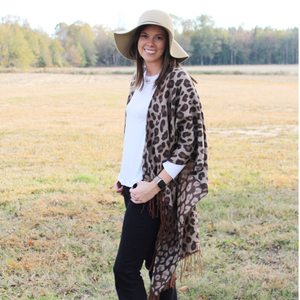 Leopard Poncho {Brown}