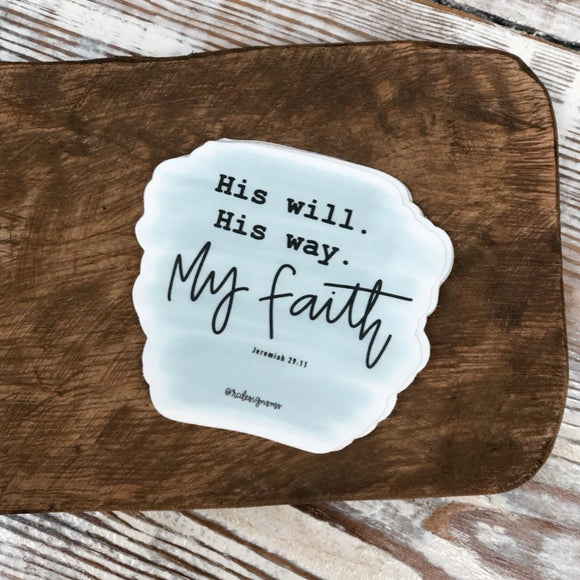 Jeremiah 29:11 Sticker