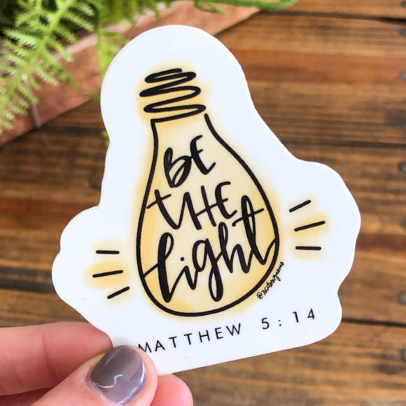 Be the Light Sticker