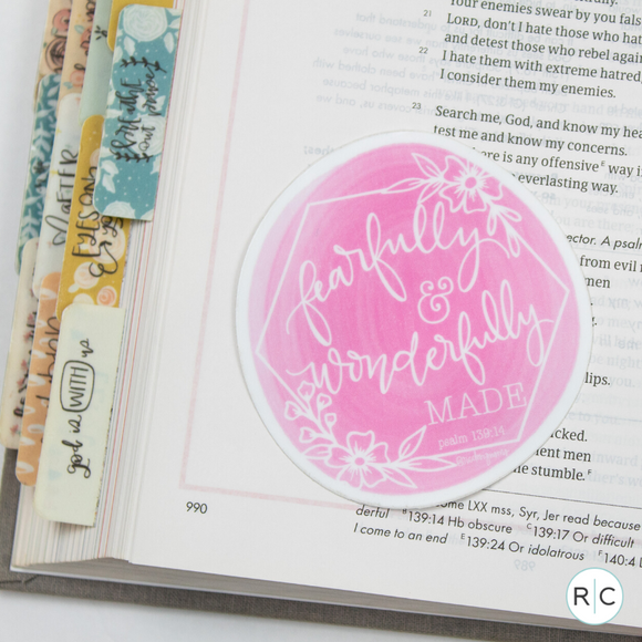 Fearfully + Wonderfully Made Sticker