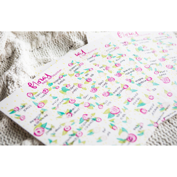 Floral Bible Tabs
