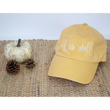 It is Well Cap {Mustard Pigment Dyed}