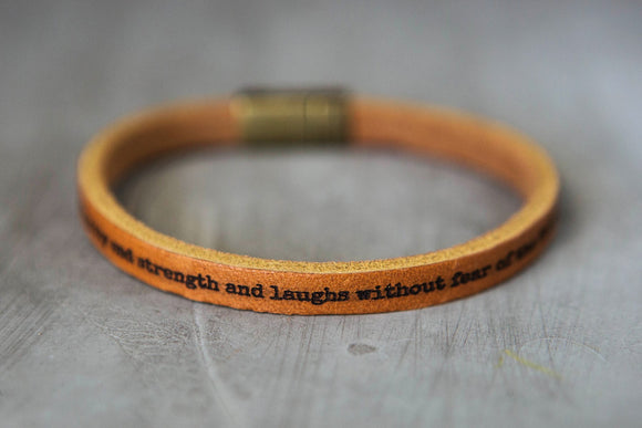 Proverbs 31 Leather Bracelet