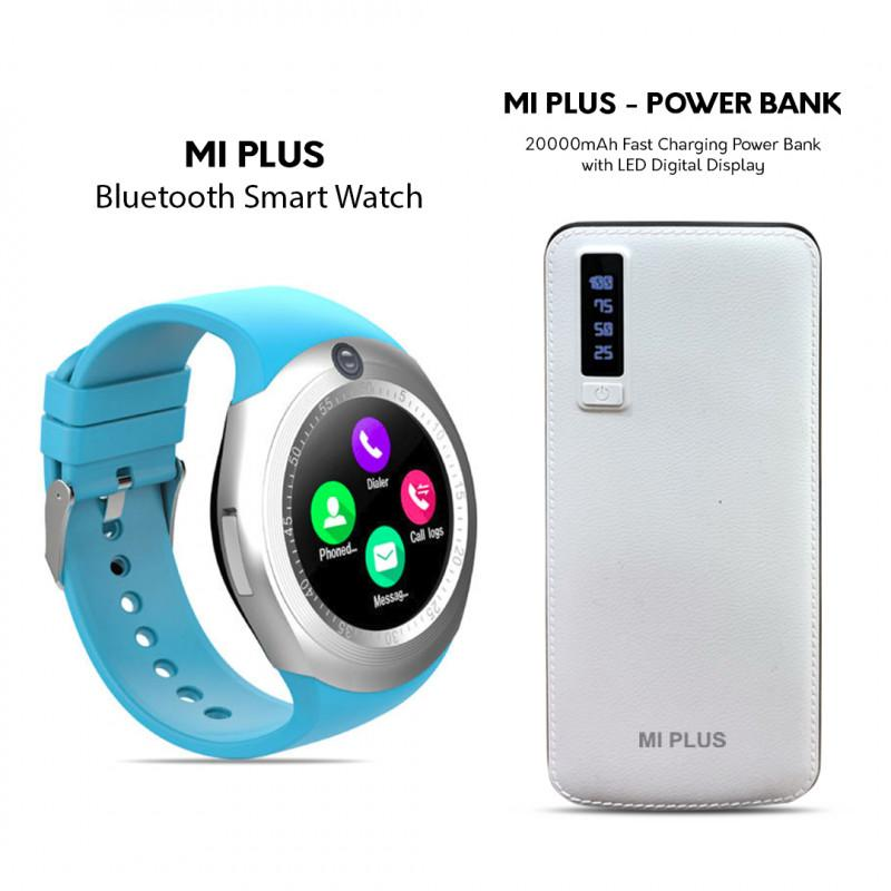 Mi Plus Calling Watch + 20000mAH Power Bank