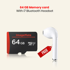 64 GB Memory Card With i7 Bluetooth Headset