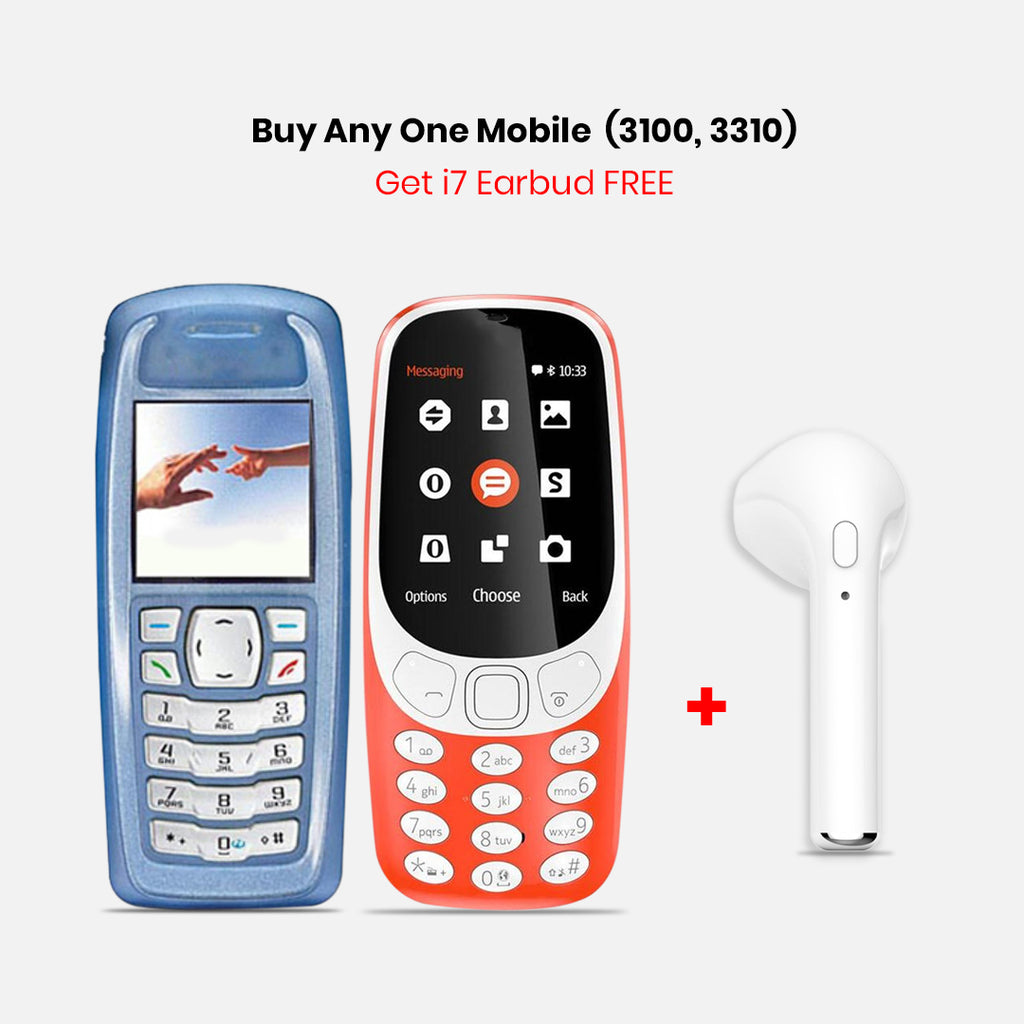 Any One Mobile Phone (3100, 3310) With I7 Earbud
