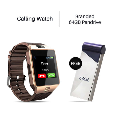 Calling Watch With Free 64GB Pendrive