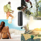 Waterproof Portable Outdoor LED Wireless Column Loudspeaker TF Card FM Radio Aux