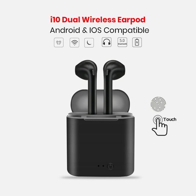 I10 Dual Wireless Earpod | Android & IOS Compatible