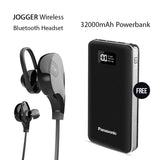 Buy Clickcases Sports JOGGER Wireless Bluetooth Headset With Free Panasonic 32000mAh Power Bank