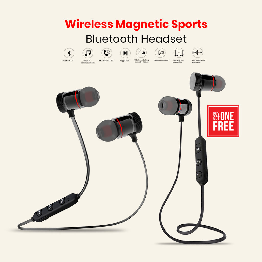 Buy 1 Get 1 Wireless Magnetic Sports Bluetooth Headset