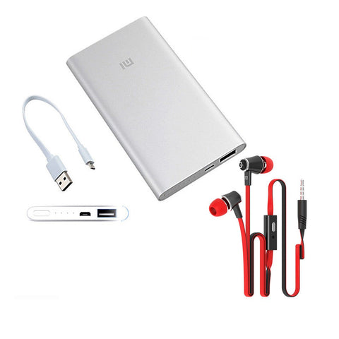 MI 10400mAh Power Bank with free Earphone