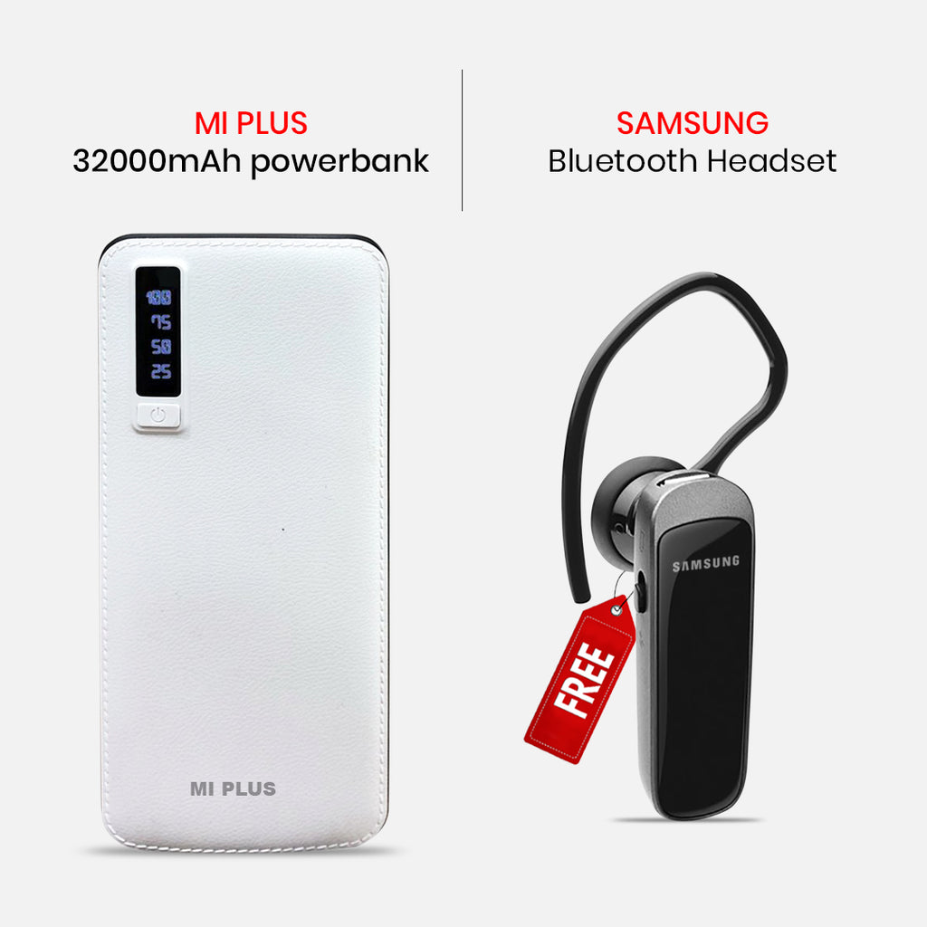 Mi Plus 32000mAH Power Bank With  Bluetooth Headset