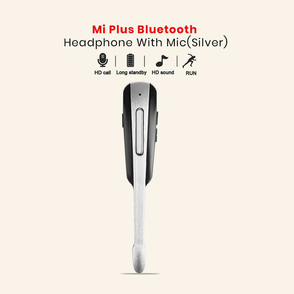 Mi Plus Wireless Bluetooth Headphonet With Mic(Silver)