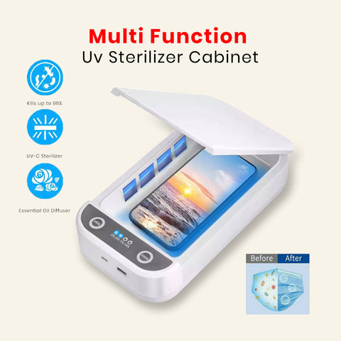 Multi Function Uv Sterilizer Cabinet Disinfection Box Phone Mask Light Cleaner