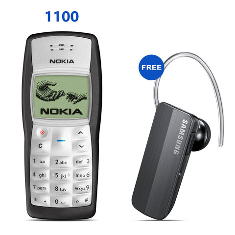 Nokia 1100 Mobile with Free Samsung Bluetooth Free