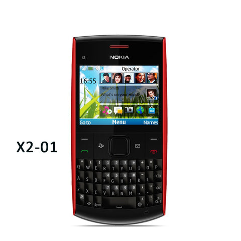 NOKIA-X2-01-RED-BLACK-With-Camera-FM-2-4INCh