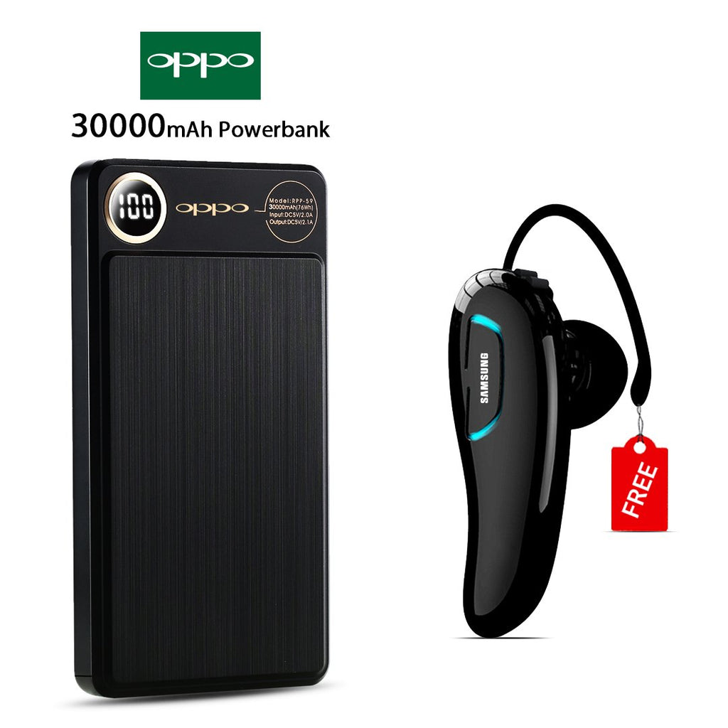 OPPO 30000mAH Power Bank With Free Samsung Bluetooth