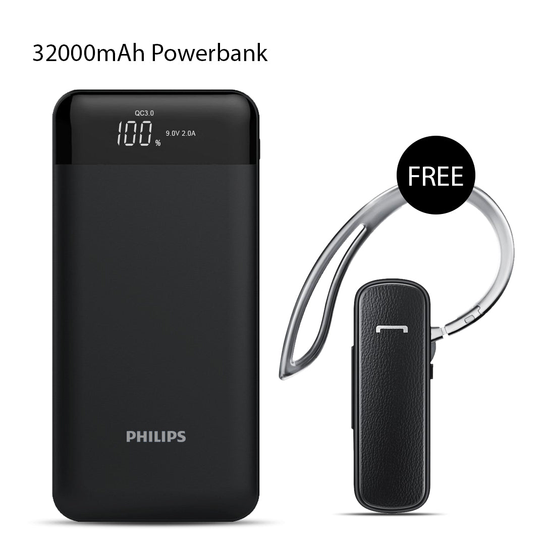 Buy Philips 32000mAh Power bank with Free Branded Bluetooth