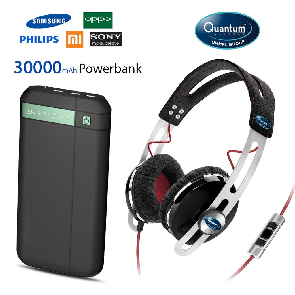 Buy Quantum Headphone And 30000mAH Power Bank