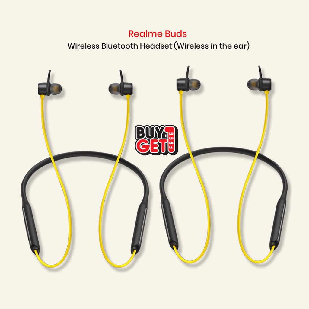 Buy 1 Get 1 Realme Buds Wireless Bluetooth Headset ( In the ear)