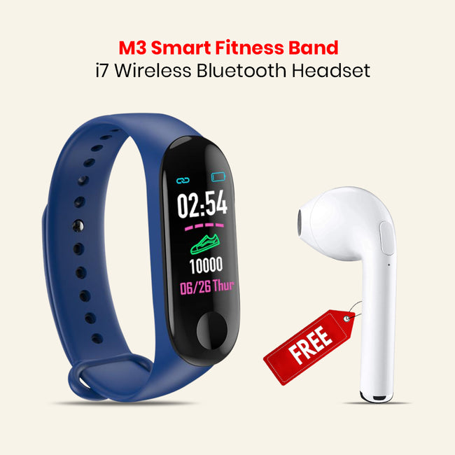 Smart Fitness Band With i7 Wireless Bluetooth Headset