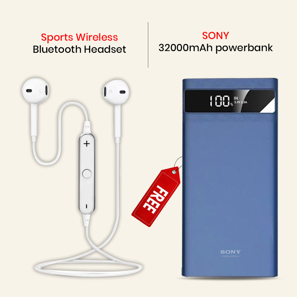 Sports Wireless Headset With 32000mAh Power Bank