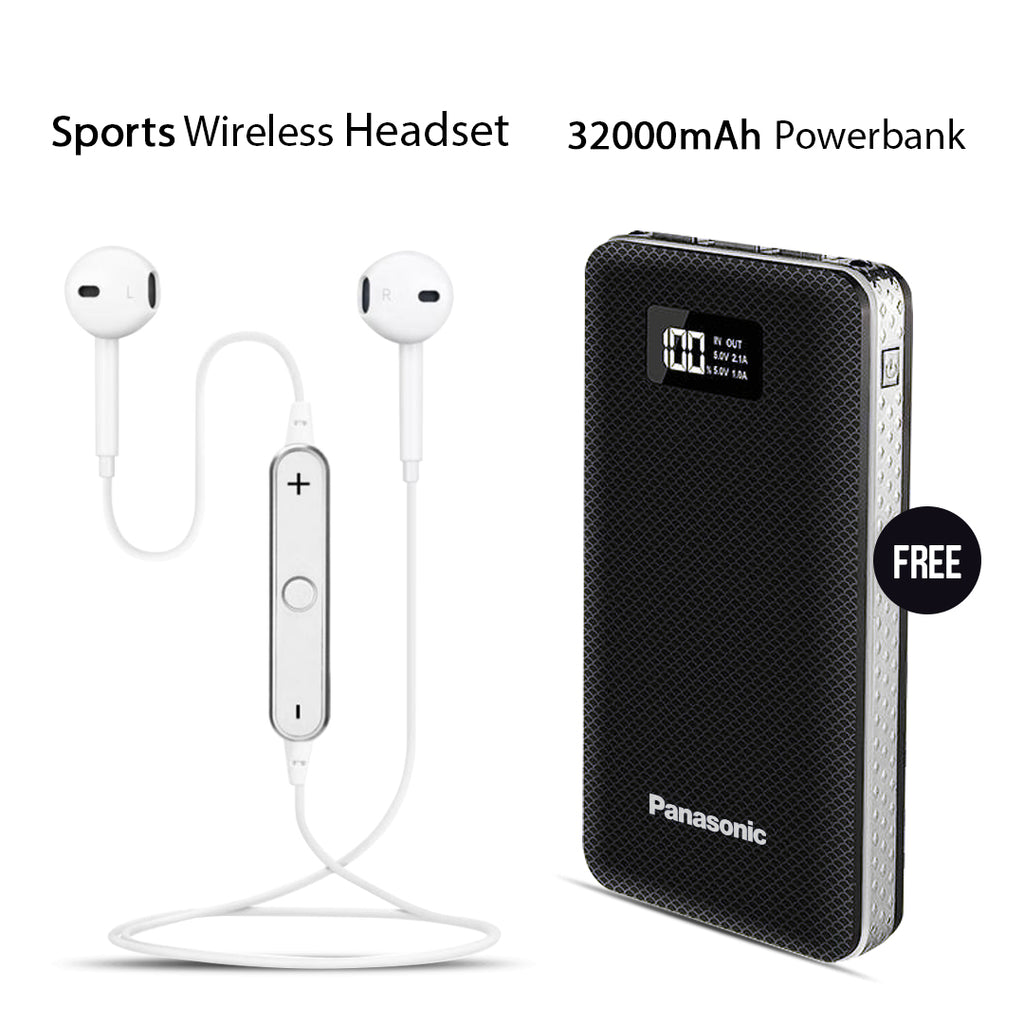 Buy Sports Headset With Free 32000mAh Panasonic Power Bank