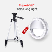 Tripod-3110 With Free Selfie Ring Light
