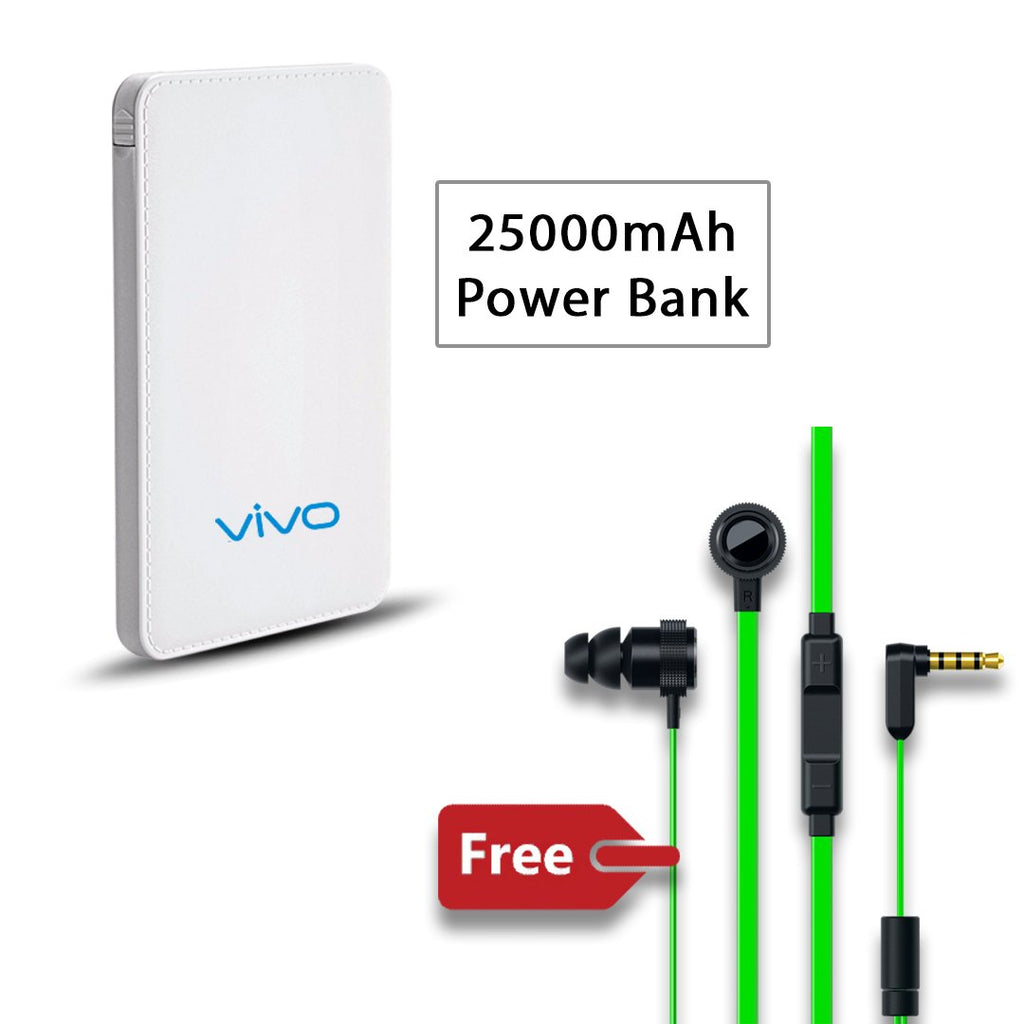Vivo 25000 mAh Power Bank with free Earphone
