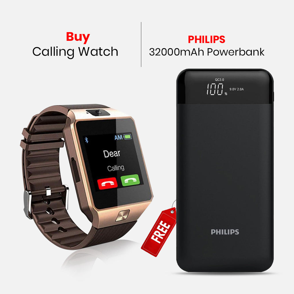 Calling Watch With 32000mAH Power Bank
