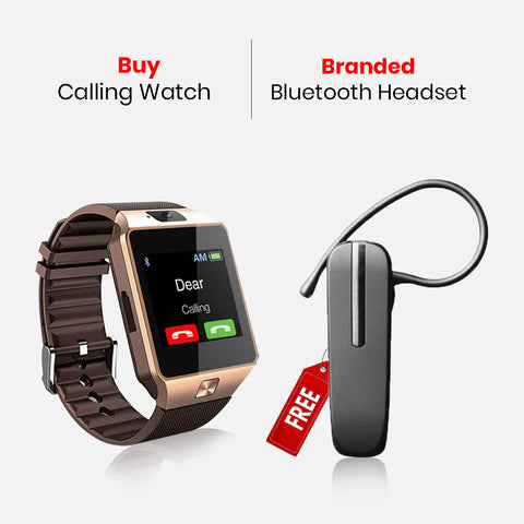 Buy Calling Watch With Free Bluetooth Headset