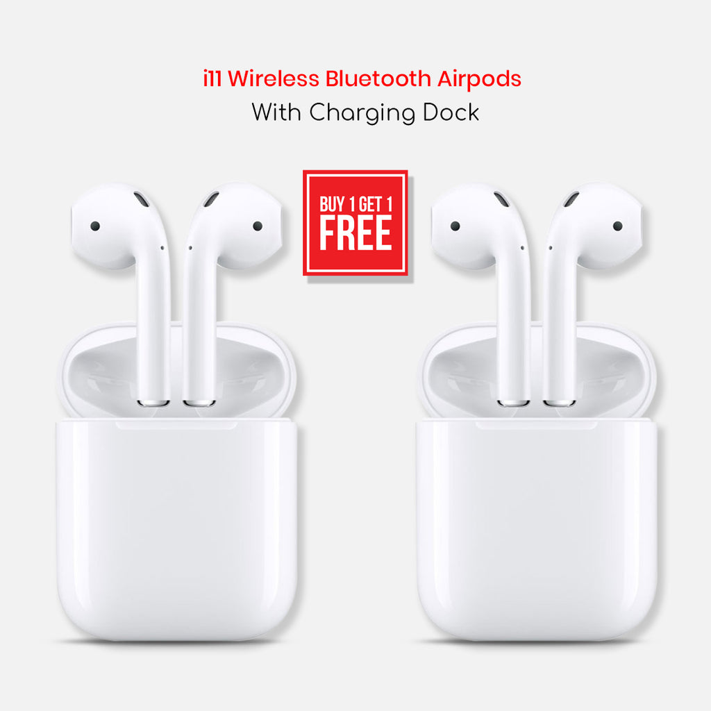 Buy One Get One I11 Wireless Bluetooth Airpods With Charging Dock