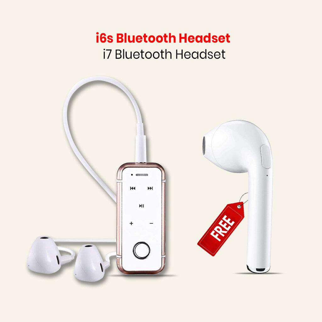 i6s Bluetooth Headset With i7 Bluetooth Headset Free