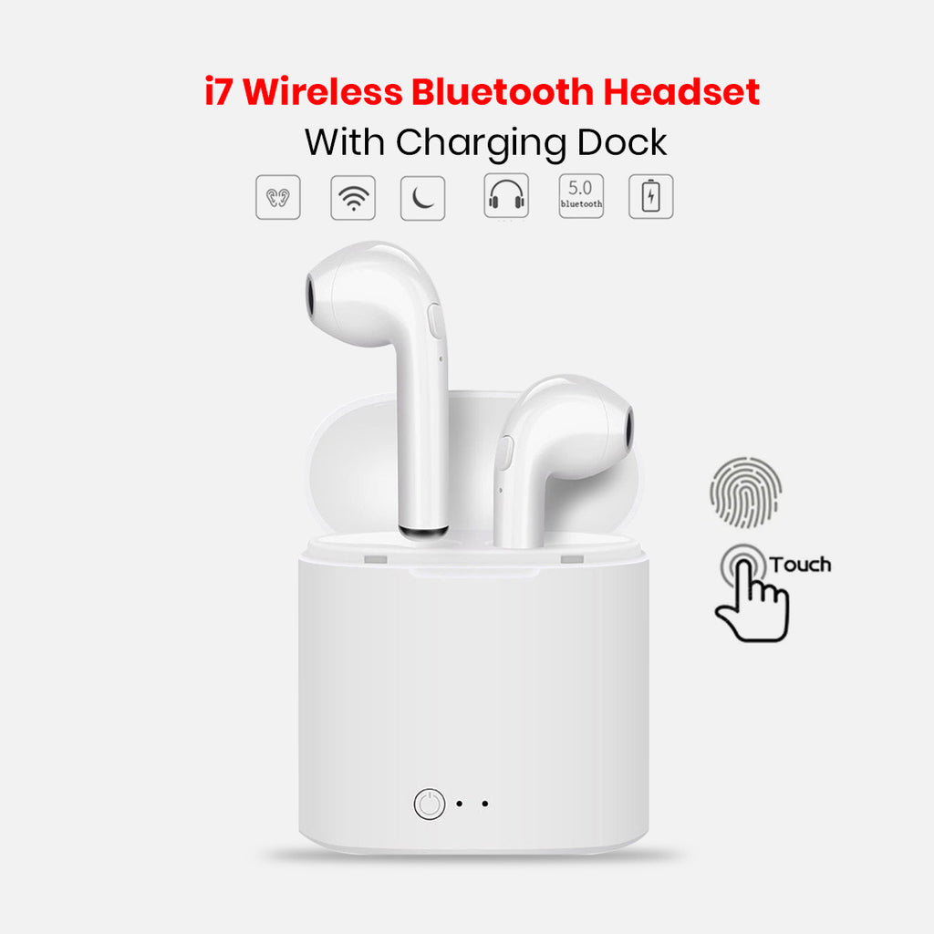 Buy Online Latest Mini Wireless Double Earbud i7 Headset