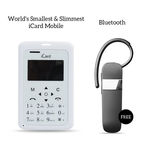 Worlds Smallest and slimmest Icard Mobile With Bluetooth