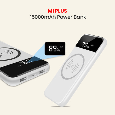 Mi Plus WIRELESS 15000mAh Power Bank