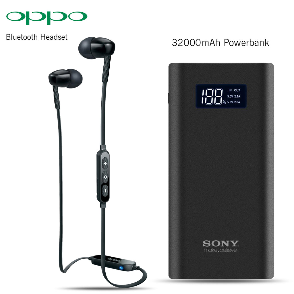 Bluetooth Headset With Free 32000mAh Power Bank