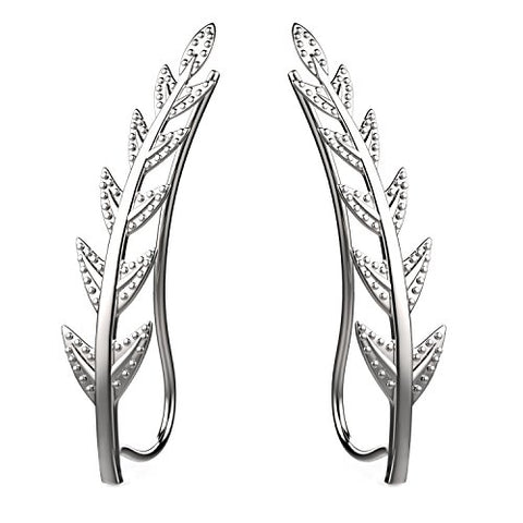 Olive Leaf Ear Crawler Sterling Silver