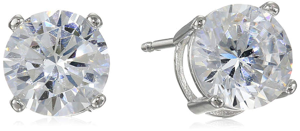 Cubic Zirconia Stud Earrings Platinum Plated