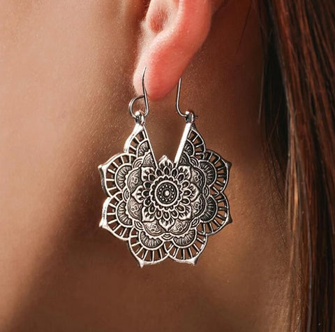 Ethnic Mandala Dangle Earrings