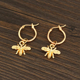 Bee Pendant Dangy Earrings